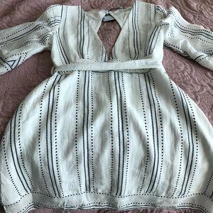 White linen mini dress